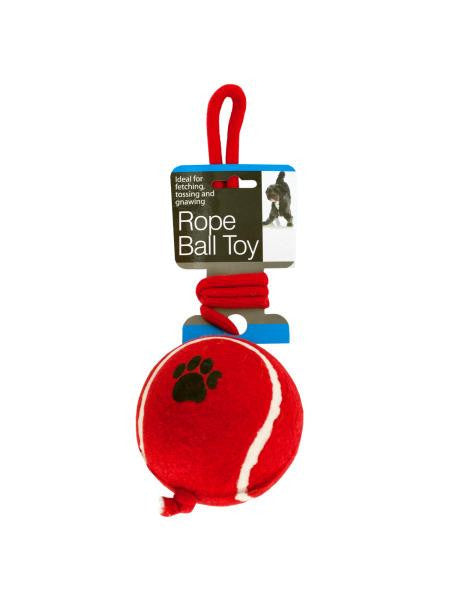 Jumbo Tennis Ball with Rope Dog Toy (Available in a pack of 4)