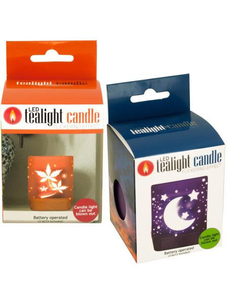 Decorative Flickering LED Tealight Candle (Available in a pack of 12)