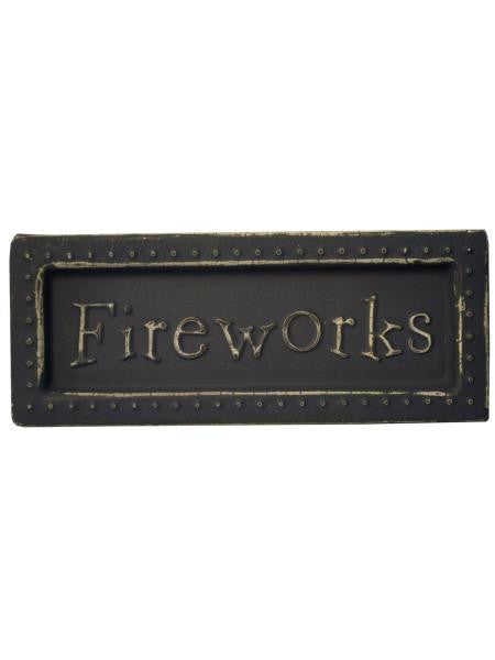 Fireworks Mini Metal Sign Magnet (Available in a pack of 18)