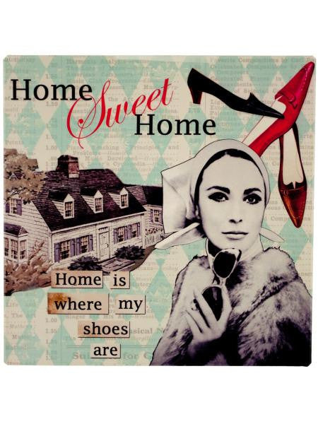 Hip Home Sweet Home Metal Sign (Available in a pack of 12)