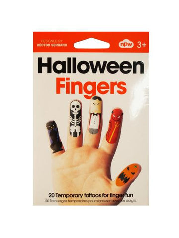 Halloween Fingers Temporary Tattoos (Available in a pack of 18)