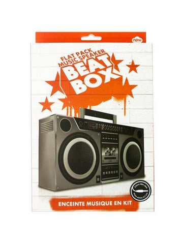 Flat Pack Music Speaker Beat Box (Available in a pack of 6)