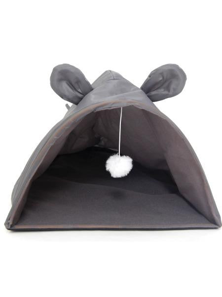 Mouse Shape Cat House with Hanging Toy (Available in a pack of 1)
