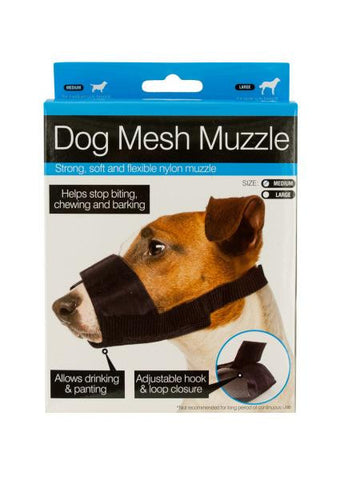 Adjustable Nylon Mesh Dog Muzzle (Available in a pack of 10)