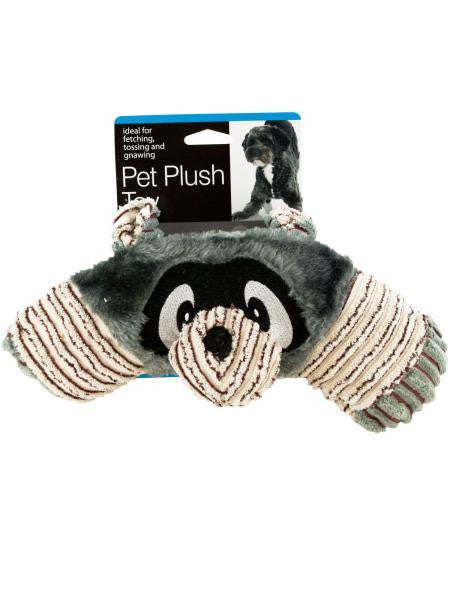 Safari Animal Plush Dog Squeak Toy (Available in a pack of 4)