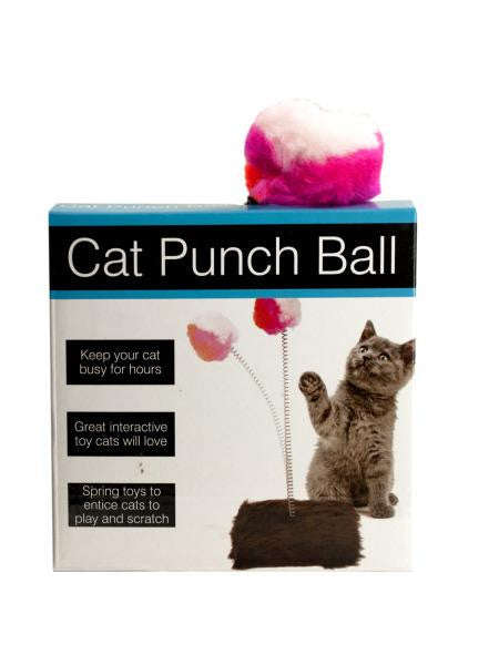Cat Punch Ball Toy with Furry Base (Available in a pack of 5)
