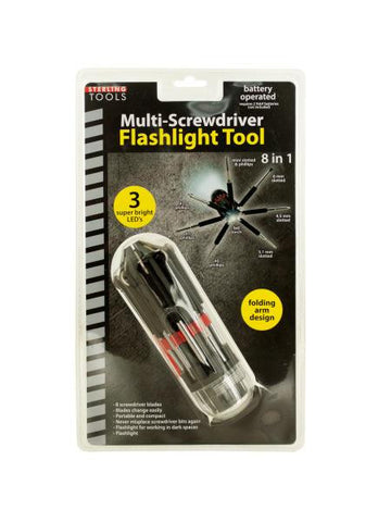 8-in-1 Multi-Screwdriver Flashlight Tool (Available in a pack of 4)