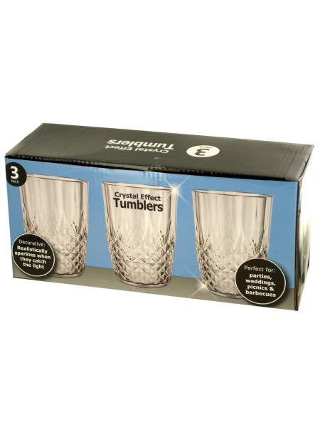 Crystal Effect Tumblers Set (Available in a pack of 2)