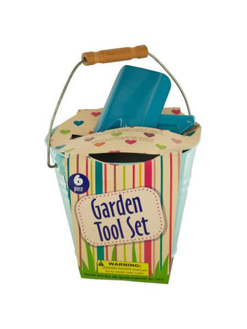 Garden Tool Set in Bucket (Available in a pack of 1)