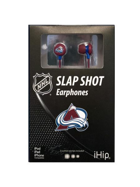 NHL Licensed Colorado Avalanche Earphones (Available in a pack of 4)