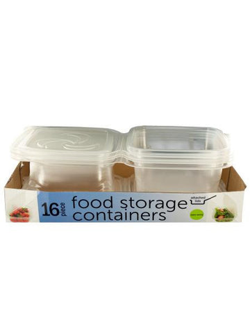 Food Storage Containers with Attached Lids (Available in a pack of 2)