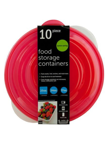 Round Nesting Food Storage Containers (Available in a pack of 2)