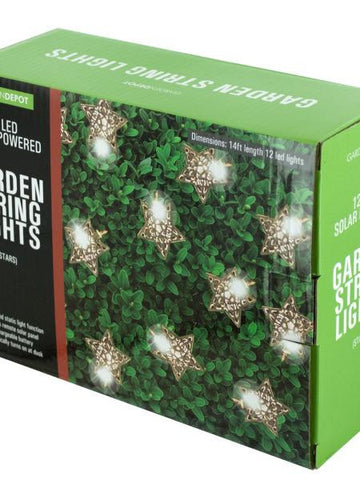 Silver Star LED Solar String Lights (Available in a pack of 1)
