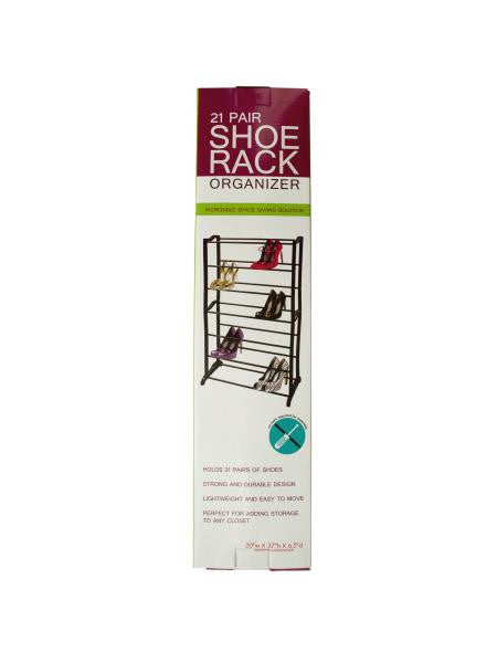 21 Pair Shoe Rack Organizer (Available in a pack of 1)