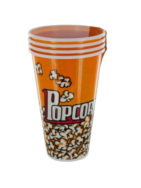 Yellow Popcorn Bucket Cups Set (Available in a pack of 4)
