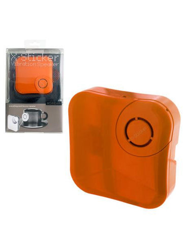 Orange X-Sticker Vibration Speaker (Available in a pack of 4)