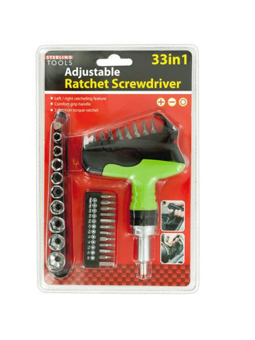 33 in 1 Adjustable Ratchet Screwdriver Set (Available in a pack of 1)