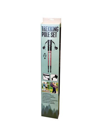 Aluminum Trekking Pole Set with Compass (Available in a pack of 1)