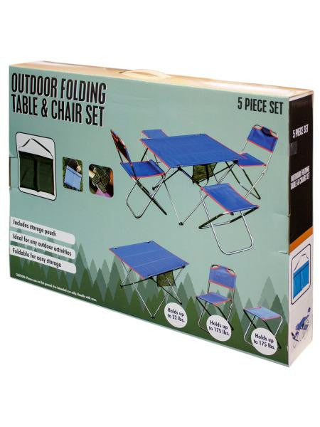 Outdoor Folding Table & Chairs Set (Available in a pack of 1)