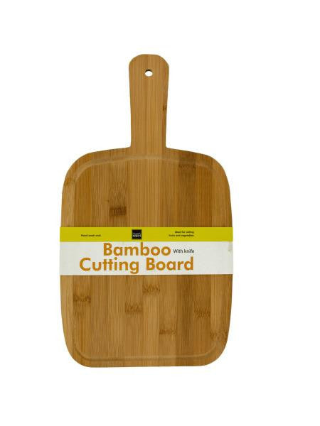 Paddle Style Bamboo Cutting Board (Available in a pack of 4)