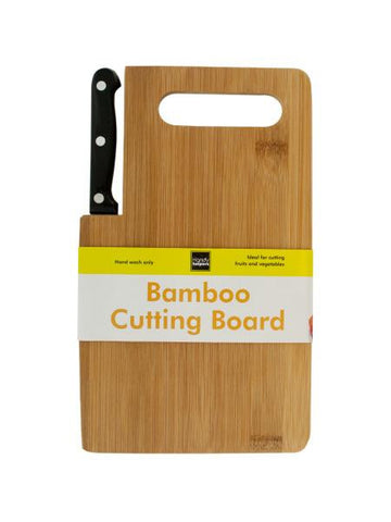 Bamboo Cutting Board with Built-In Knife (Available in a pack of 4)