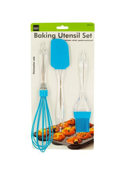 Silicone & Plastic Baking Utensil Set (Available in a pack of 6)