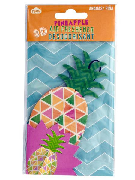 3D Pineapple Air Freshener (Available in a pack of 24)