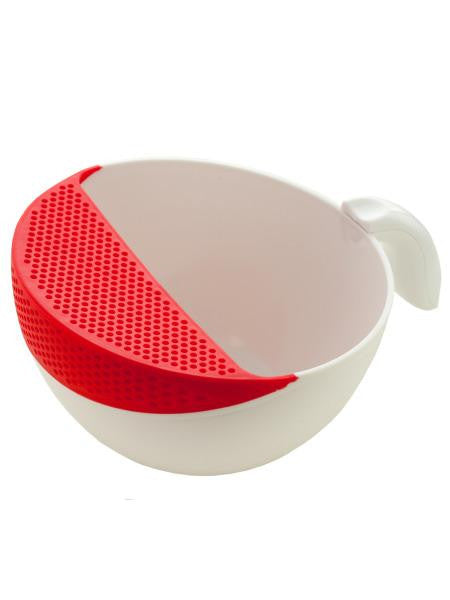 Rinsing Bowl with Colander and Handle (Available in a pack of 4)