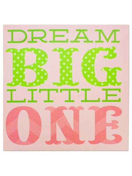 Dream Big Little One Canvas Wrapped Wall Art (Available in a pack of 2)