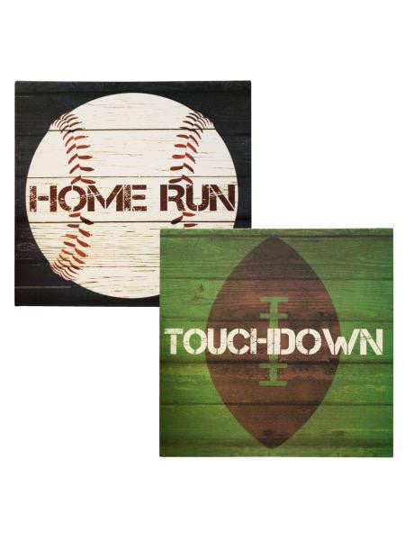 Sports Theme Canvas Wrapped Wall Art (Available in a pack of 2)