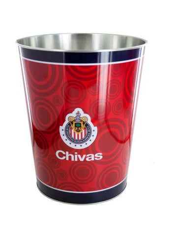 Chivas Banded Metal Wastebasket (Available in a pack of 6)
