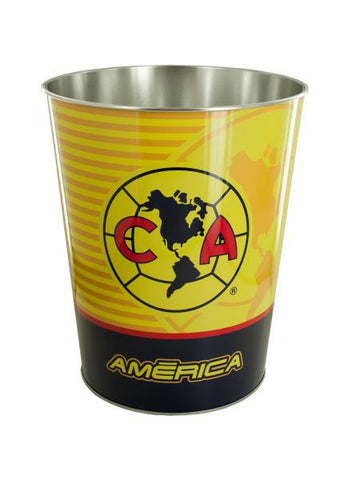 Club America Metal Wastebasket (Available in a pack of 4)