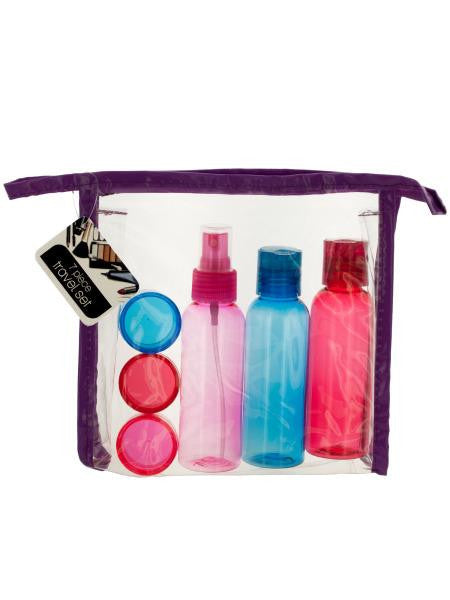 Travel Container Set in Zipper Case (Available in a pack of 4)