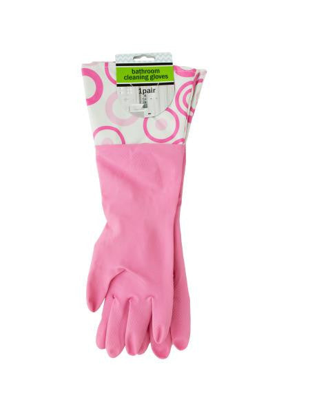 Bathroom Cleaning Gloves with Nylon Cuffs (Available in a pack of 10)