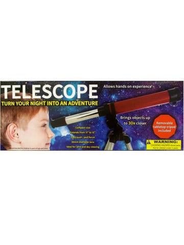 Compact Telescope with Tabletop Tripod (Available in a pack of 1)