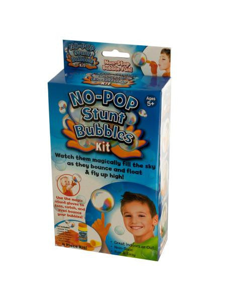 No-Pop Stunt Bubbles Kit (Available in a pack of 4)