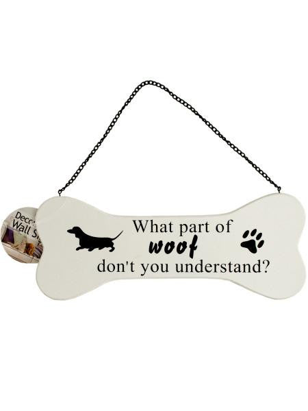 Dog Bone Wall Sign (Available in a pack of 12)