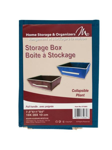 Small Fabric Storage Box with Pull Handle (Available in a pack of 24)
