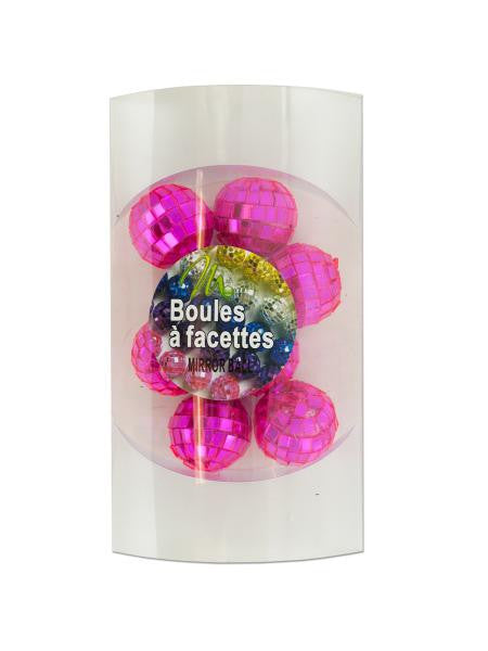 Mini Pink Mirror Balls (Available in a pack of 15)