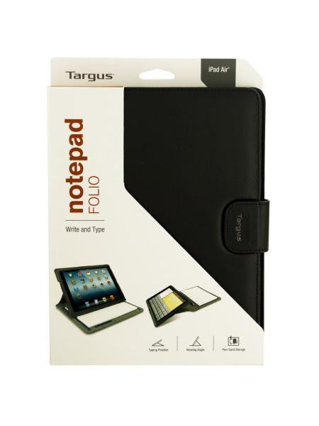 Targus iPad Air Black All-In-One Notepad Folio (Available in a pack of 3)