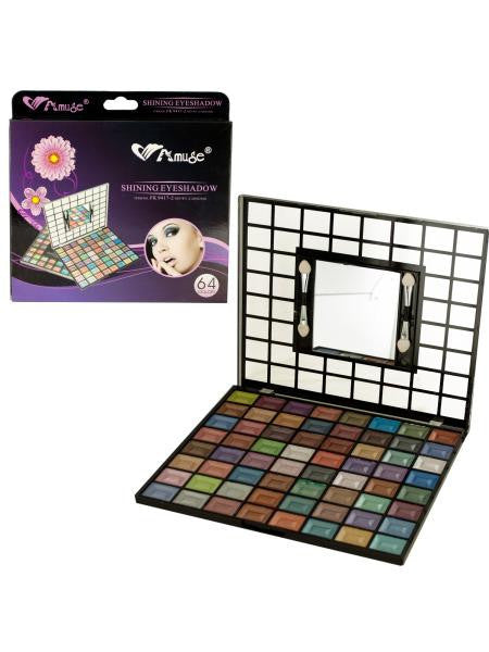 Shimmery Eyeshadow Set with Mirror & Applicators (Available in a pack of 4)