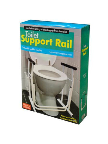 Toilet Support Rail with Magazine Rack (Available in a pack of 1)