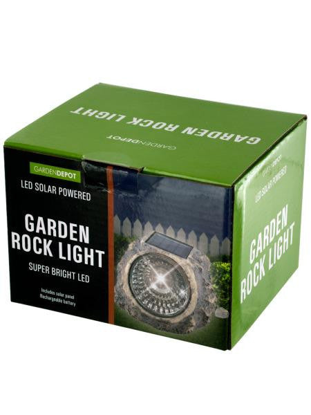 Solar Powered LED Garden Rock Light (Available in a pack of 1)