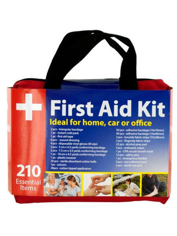 First Aid Kit in Easy Access Carrying Case (Available in a pack of 1)