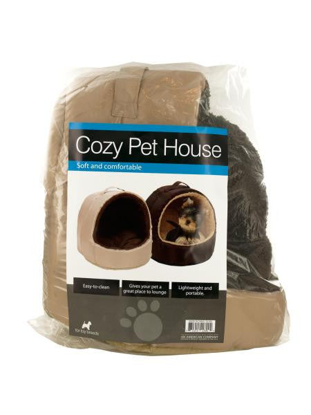 Cozy Portable Pet House with Carry Handle (Available in a pack of 1)