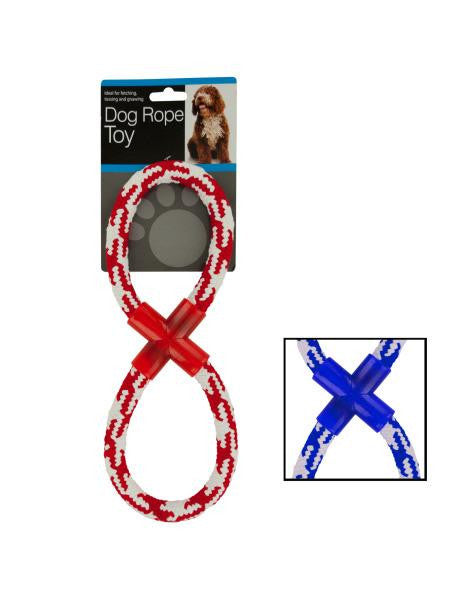 Woven Figure Eight Dog Rope Toy (Available in a pack of 4)