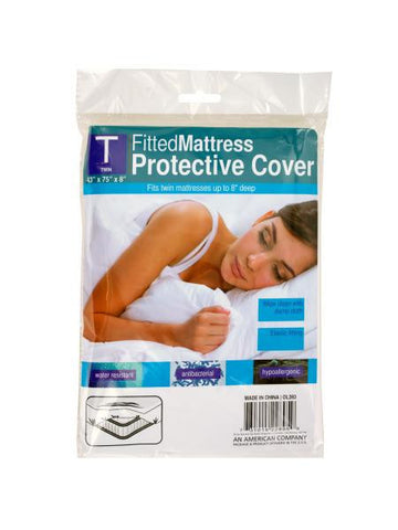 Twin Size Fitted Protective Mattress Cover (Available in a pack of 12)