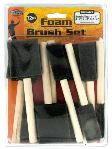 Foam Paint Brush Set (Available in a pack of 12)