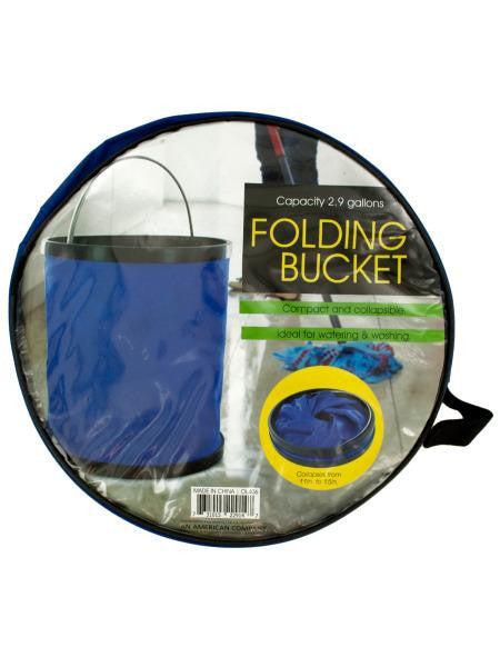 Folding Nylon Bucket with Metal Handle (Available in a pack of 1)