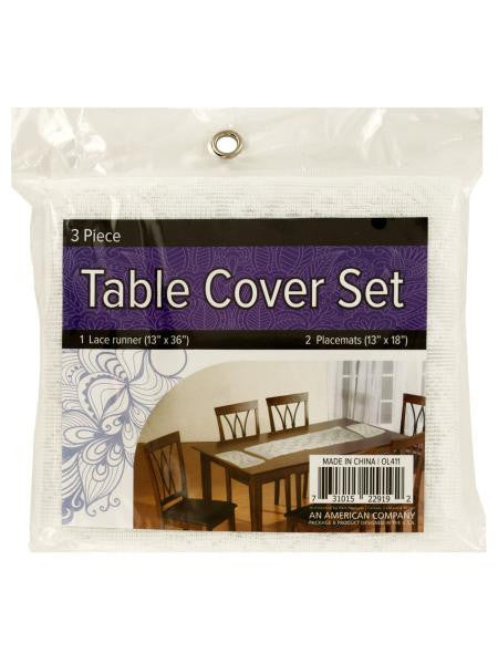 Lace Table Cover Set with Placemats (Available in a pack of 4)